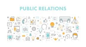 Ligne concept de Web pour des relations publiques Image libre de droits