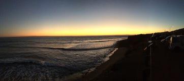 Ligne coucher du soleil du comté de tache de ressac Image libre de droits