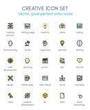 Ligne créative ensemble de paquet d'icône Photo stock