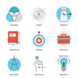 Ligne créative icônes d'éléments de conception réglées Images stock
