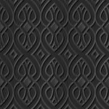 Ligne croisée de l'art 3D de courbe de papier foncée élégante sans couture du modèle 182 Image libre de droits