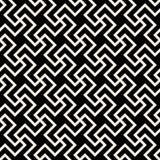 Ligne croisée géométrique abstraite noire et blanche sans couture modèle de carrelage de vecteur illustration de vecteur