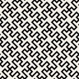 Ligne croisée géométrique abstraite noire et blanche sans couture modèle de carrelage de vecteur Photos libres de droits