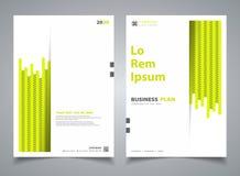 Ligne décoration de rayure de couleur verte de brochure de résumé nouvelle de calibre de conception Vecteur eps10 d'illustration illustration de vecteur