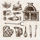 Ligne détail boulangerie de Digital d'art Image libre de droits