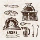 Ligne détail boulangerie de Digital d'art Images stock