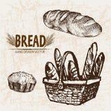 Ligne détail boulangerie de vecteur de Digital d'art Photos libres de droits