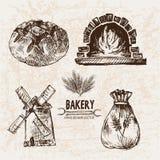 Ligne détail boulangerie de vecteur de Digital d'art Photo stock