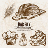 Ligne détail boulangerie de vecteur de Digital d'art Photographie stock libre de droits
