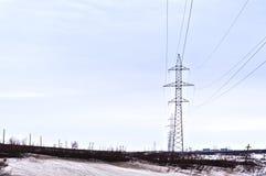 Ligne d'électro transferts Photos libres de droits