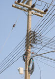 Ligne d'alimentation d'énergie Photo stock