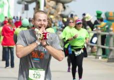 Ligne d'arrivée de marathon d'oxalide petite oseille Photo stock