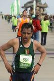 Ligne d'arrivée de marathon d'oxalide petite oseille Images libres de droits
