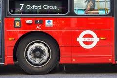 Ligne d'autobus de Londres Photos libres de droits