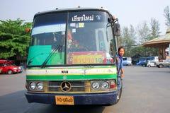 Ligne d'autobus Lampang et Chiangmai de société de Greenbus Photo libre de droits