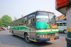Ligne d'autobus Lampang et Chiangmai de société de Greenbus Photographie stock libre de droits