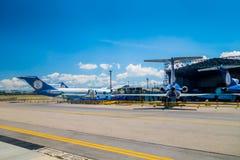 Ligne d'avions de suramericanas d'aereas de Lineas et Images libres de droits