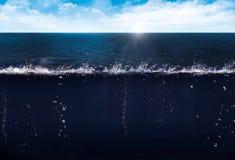 Ligne d'eau de mer Photographie stock