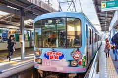 Ligne d'Enoden à Kamakura Photos libres de droits