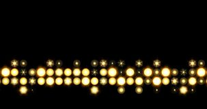 Ligne d'or fond de LED de lumières se relevant clips vidéos