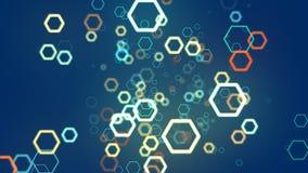 Ligne d'hexagone de fond abstrait Photographie stock