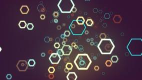 Ligne d'hexagones de fond foncé Photo libre de droits