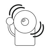 Ligne d'icône d'alerte de secours du feu d'alarme illustration libre de droits