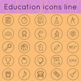 Ligne 02 d'icônes d'éducation Photographie stock libre de droits