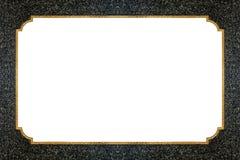Ligne d'or sur la texture en pierre Photos libres de droits
