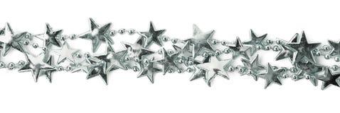 Ligne d'un fil de guirlande d'étoile d'isolement Photographie stock libre de droits