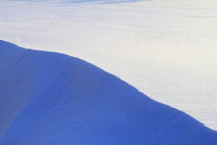 Ligne d'une neige Images stock