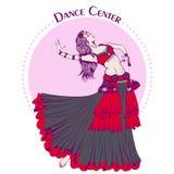 Ligne danse de danse de ventre tribale de couleur Photographie stock libre de droits