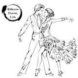 Ligne danse de salon Latina de danse Photo libre de droits