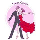 Ligne danse de salon Latina de danse de couleur Photographie stock libre de droits