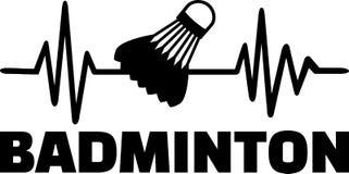 Ligne de battement de coeur de badminton Images libres de droits