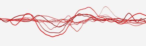 Ligne de battement de coeur cardiogram Impulsion de coeur ?coulement l?ger dynamique rendu 3d illustration stock