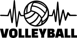 Ligne de battement de coeur de joueur de volleyball illustration libre de droits