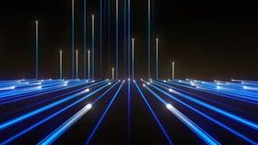 Ligne de bleu de technologie de fond banque de vidéos