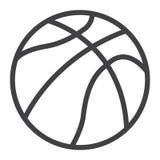 Ligne de boule de basket-ball icône, sport et jeu Image stock