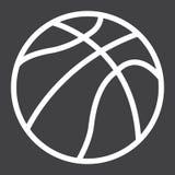 Ligne de boule de basket-ball icône, sport et jeu Image libre de droits