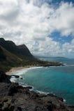 Ligne de côte de volcan d'Hawaï Photos libres de droits