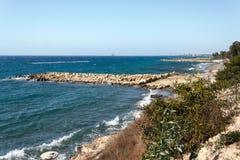 Ligne de côte de Limassol, Chypre Photo libre de droits