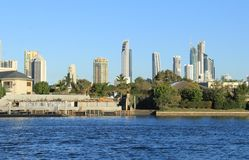 Ligne de côte des surfers paradis, la Gold Coast Photo libre de droits
