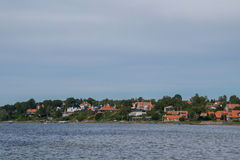 Ligne de côte, Roskilde, Danemark Photographie stock