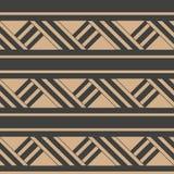 Ligne de cadre croisée de la géométrie de rétro de modèle de damassé de vecteur triangle sans couture de fond Conception brune de illustration libre de droits