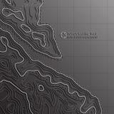 Ligne de carte de la topographie Dirigez le concept abstrait de carte topographique avec l'espace pour votre copie Image stock