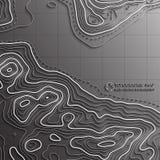 Ligne de carte de la topographie Dirigez le concept abstrait de carte topographique avec l'espace pour votre copie Photographie stock libre de droits