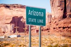 Ligne de chambre de l'Arizona à la vallée de monument photo stock