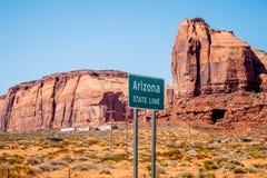Ligne de chambre de l'Arizona à la vallée de monument images libres de droits