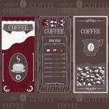 Ligne de chocolat de café Images libres de droits